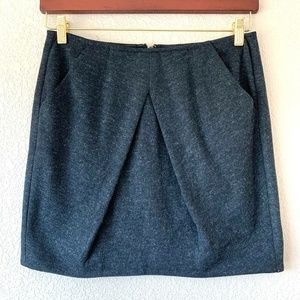 CAbi Style 629 Andy's Modern Mini Skirt Charcoal